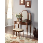 ACME Furniture Acme Burke Vanity Set, Dark Hazelnut