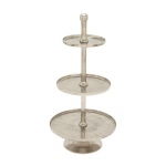 Benzara 3-tier Aluminum Cake Stand Set Of 3 68867