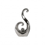 "Benzara Abstract Art ""s"" Sculpture  - Large - Silver - Benzara"
