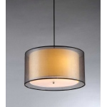 Warehouse of Tiffanys Jonah 3-light Double Drum Shade Pendant