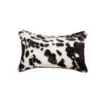 "Luxe Faux Fur Belton Faux Fur Pillow 12"" X 20"" - Brownsville Chocolate & White"