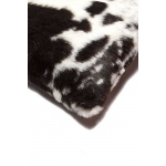 "Luxe Faux Fur Belton Faux Fur Pillow 18"" X 18"" - Brownsville Chocolate & White"