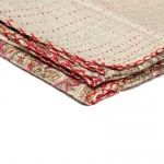 "Taj Hotel Kantha Cotton Throw 50"" X 70"" - Wa-0014"
