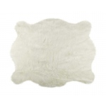 Luxe Faux Fur Faux Hide Rug 4.25' X 5' - Off White
