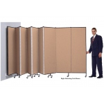 "Screenflex 11 Panel WALLmount™ Room Divider: 4'H x 20'2""L, Upgraded Fabric and Vinyl Colors"