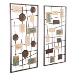 HomeRoots Abstract Set Of 2 Wall  decor  Antique