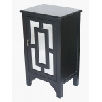 Heather Ann Creations Becker 1-door Accent Cabinet W/ Lattice Mirror Inserts