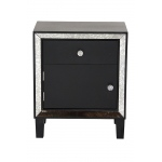 Heather Ann Creations Bon Marche 1-drawer, 1-door Accent Cabinet W/ Antiqued Mirror Accents