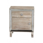 Heather Ann Creations Bon Marche 1-drawer, 1-door Accent Cabinet W/ Mirror Accents