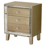 Heather Ann Creations Bon Marche 3-drawer Accent Cabinet W/ Antiqued Mirror Accents