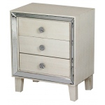 Heather Ann Creations Bon Marche 3-drawer Accent Cabinet W/ Mirror Accents