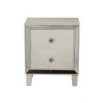 Heather Ann Creations Bon Marche 2-drawer End Table W/ Antiqued Mirror Accents