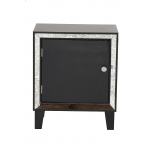 Heather Ann Creations Bon Marche 1-door Accent Cabinet W/ Antiqued Mirror Accents