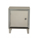 Heather Ann Creations Bon Marche 1-door Accent Cabinet W/ Mirror Accents