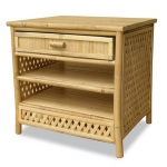 Heather Ann Creations Akoni 1-drawer 2-shelf Bamboo End Table