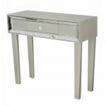 Heather Ann Creations Avery 1-drawer Console Table W/ Antiqued Mirror Accents