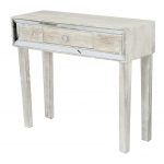 Heather Ann Creations Avery 1-drawer Console Table W/ Mirror Accents