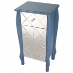 Heather Ann Creations Amelia 1-drawer, 1-door Mirrored Front Accent Cabinet
