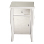 Heather Ann Creations Amelia 1-drawer, 1-door Mirrored Accent Cabinet