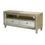 Heather Ann Creations Avery 2-drawer Mirrored Tv Stand