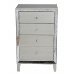 Heather Ann Creations Avery 4-drawer Cabinet W/ Antiqued Mirror Accents