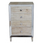 Heather Ann Creations Avery 4-drawer Cabinet W/ Mirror Accents