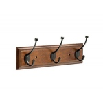 Liberty Bark Rail With Cocoa Bronze Pilltop Hooks