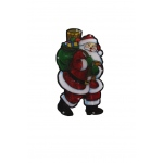 "Benzara 10"" Santa Indoor Hanging Decor With 10 Led Lights / Each"