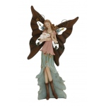 Benzara Adorable And Attractive Polystone Metal Fairy Figurine