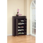 Benzara Capacious Shoe Cabinet With 5 Adjustable Shelves.