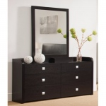 Benzara A Beautiful Dresser With Six Drawers, Dark Brown.