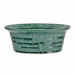 Benzara Abstract Pattern Green Bowl