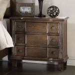 ACME Furniture Acme Baudouin Nightstand , Weathered Oak