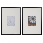 Benzara Abstract Photos With Frames, Black And White