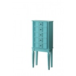 ACME Furniture Acme Tammy Jewelry Armoire, Light Blue