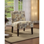 Benzara Aberly Accent Chair With Printed Fabric
