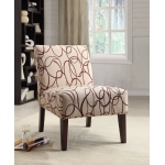 Benzara Aberly Armless Accent Chair With Printed Fabric