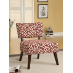 Benzara Able Accent Chair In Printed Fabric