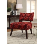 Benzara Able Accent Armless Chair, Red