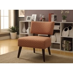 Benzara Able Accent Armless Chair, Orange