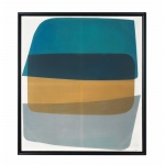 Benzara Abstract Framed Wall Art, Multicolor