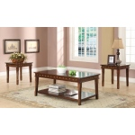 Benzara 3pc Pack Coffee/end Table Set, Walnut