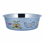 Bella N Chaser Multi- Print Stainless Steel Dog Bowl By