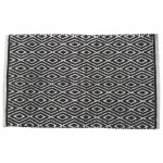 Benzara Black Diamond Rug