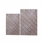 Benzara 100% Cotton 2 Piece Impression Bath Rug 2 Pc