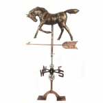 The Urban Port Antiqued Copper Horse Weathervane Urban Port
