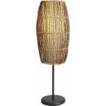 Benzara Alluring Oval Shaped Ceramic & Metal Table Lamp, Brown