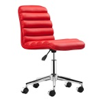 HomeRoots Furniture Admire Office Chair Red