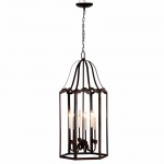 Benzara Alluringly Designed Chandelier In Brown