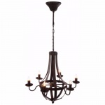 Benzara 6-light Candelabra Iron Chandelier, Brown